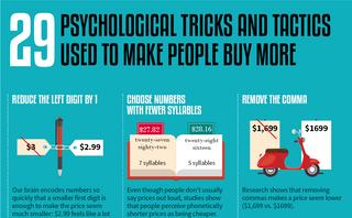 29 Psychological tricks used to make you buy more