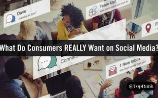 What consumers want from social media is different than brands, creating a performance gap